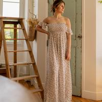 Odjeća Žene  Duge haljine Céleste PATCHOULI Krem boja / Crna