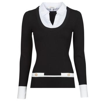 Odjeća Žene  Puloveri Morgan MFLO Crna / Bijela