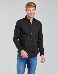 Odjeća Muškarci  Košulje dugih rukava Emporio Armani 8N1C09 Crna