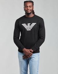 Odjeća Muškarci  Sportske majice Emporio Armani 8N1MR6 Crna