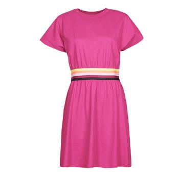Odjeća Žene  Kratke haljine Karl Lagerfeld LOGO TAPE JERSEY DRESS Ružičasta