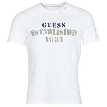 Odjeća Muškarci  Majice kratkih rukava Guess WORKFOR CN SS TEE Bijela