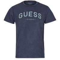 Odjeća Muškarci  Majice kratkih rukava Guess GUESS COLLEGE CN SS TEE Blue
