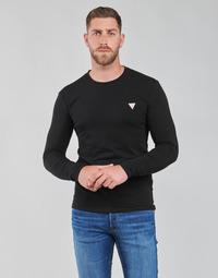 Odjeća Muškarci  Majice dugih rukava Guess CN LS CORE TEE Crna