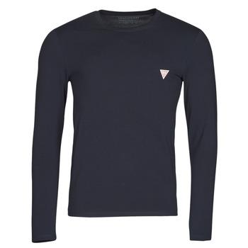Odjeća Muškarci  Majice dugih rukava Guess CN LS CORE TEE Blue