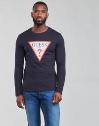 Odjeća Muškarci  Majice dugih rukava Guess CN LS ORIGINAL LOGO TEE Blue
