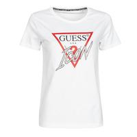 Odjeća Žene  Majice kratkih rukava Guess SS CN ICON TEE Bijela