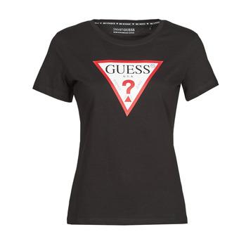 Odjeća Žene  Majice kratkih rukava Guess SS CN ORIGINAL TEE Crna