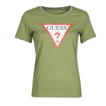 Odjeća Žene  Majice kratkih rukava Guess SS CN ORIGINAL TEE Kaki