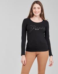 Odjeća Žene  Majice dugih rukava Guess LS CN RAISA TEE Crna