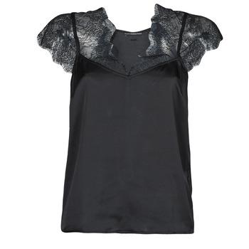 Odjeća Žene  Topovi i bluze Guess SS MIRANDA TOP Crna