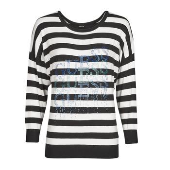 Odjeća Žene  Puloveri Guess CLAUDINE BAT SLEEVE SWTR Crna / Bijela