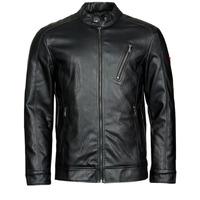 Odjeća Muškarci  Kožne i sintetičke jakne Guess PU LEATHER BIKER Crna