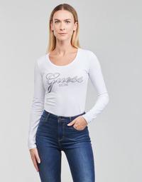 Odjeća Žene  Majice dugih rukava Guess LS CN RAISA TEE Bijela