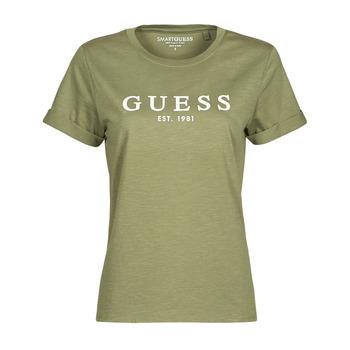 Odjeća Žene  Majice kratkih rukava Guess ES SS GUESS 1981 ROLL CUFF TEE Kaki