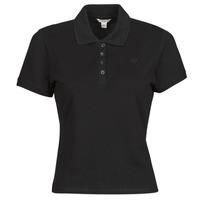 Odjeća Žene  Polo majice kratkih rukava Guess ES SS GUESS LOGO PIQUE POLO Crna