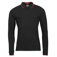 Odjeća Muškarci  Polo majice dugih rukava Guess STU LS POLO Crna
