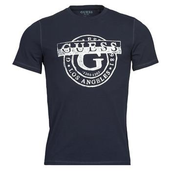 Odjeća Muškarci  Majice kratkih rukava Guess DOUBLE G CN SS TEE Blue