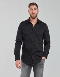 Odjeća Muškarci  Košulje dugih rukava Guess LS SUNSET SHIRT Crna