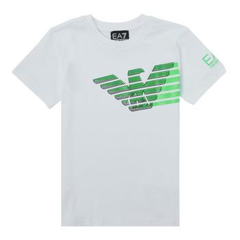 Odjeća Dječak  Majice kratkih rukava Emporio Armani EA7 THAMIA Bijela / Zelena