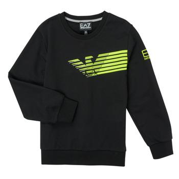 Odjeća Dječak  Sportske majice Emporio Armani EA7 SOLIR Crna