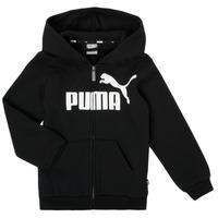 Odjeća Dječak  Sportske majice Puma ESSENTIAL BIG LOGO FZ HOODIE Crna
