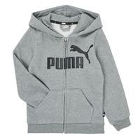 Odjeća Dječak  Sportske majice Puma ESSENTIAL BIG LOGO FZ HOODIE Siva