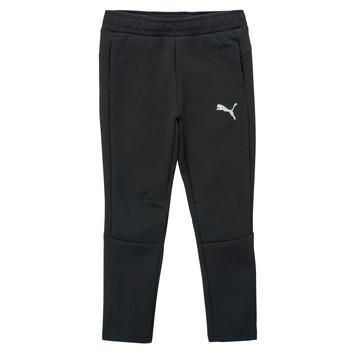 Odjeća Dječak  Donji dio trenirke Puma EVOSTRIPE PANT Crna