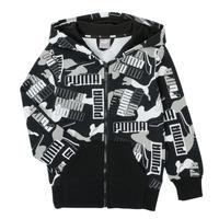 Odjeća Dječak  Sportske majice Puma ALPHA AOP FZ Crna