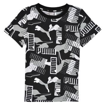 Odjeća Dječak  Majice kratkih rukava Puma ALPHA AOP TEE Crna