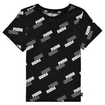 Odjeća Dječak  Majice kratkih rukava Puma PUMA POWER AOP TEE Crna