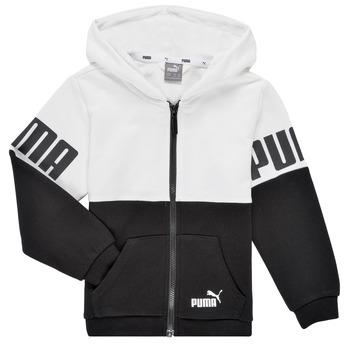 Odjeća Dječak  Sportske majice Puma PUMA POWER FZ HOODIE Crna / Bijela