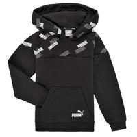 Odjeća Dječak  Sportske majice Puma PUMA POWER AOP HOODIE Crna
