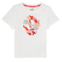 Odjeća Djevojčica Majice kratkih rukava Puma ALPHA TEE Bijela