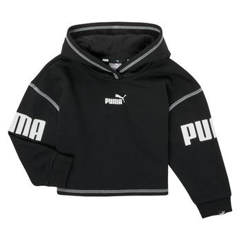 Odjeća Djevojčica Sportske majice Puma PUMA POWER HOODIE Crna