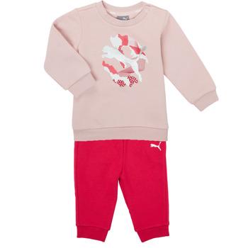Odjeća Djevojčica Dječji kompleti Puma Minicats ALPHA Crew Jogger FL Ružičasta