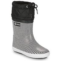 Obuća Djevojčica Čizme za snijeg Aigle GIBOULEE PRINT Crna / Bijela