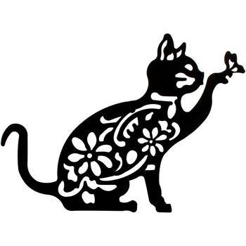 Dom Slike i platna Signes Grimalt Zid Ukras Mačka Negro