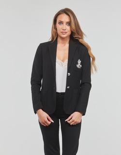 Odjeća Žene  Jakne i sakoi Lauren Ralph Lauren ANFISA-LINED-JACKET Crna