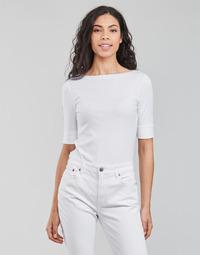 Odjeća Žene  Majice dugih rukava Lauren Ralph Lauren JUDY-ELBOW SLEEVE-KNIT Bijela
