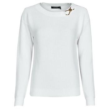 Odjeća Žene  Puloveri Lauren Ralph Lauren YAMINAH-LONG SLEEVE-SWEATER Bijela