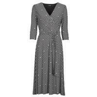 Odjeća Žene  Duge haljine Lauren Ralph Lauren CARLYNA-3/4 SLEEVE-DAY DRESS Crna