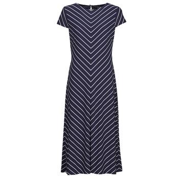 Odjeća Žene  Duge haljine Lauren Ralph Lauren PIPPA-CAP SLEEVE-DAY DRESS Blue