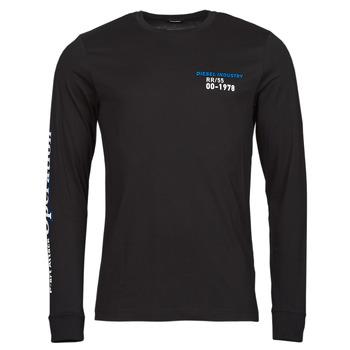 Odjeća Muškarci  Majice dugih rukava Diesel T-DIEGOS-LS-K25 Crna