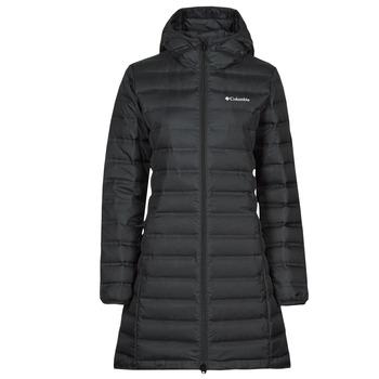 Odjeća Žene  Pernate jakne Columbia LAKE DOWN LONG HOODED JACKET Crna