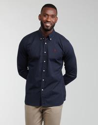 Odjeća Muškarci  Košulje dugih rukava U.S Polo Assn. DIRK 51371 EH03 Blue