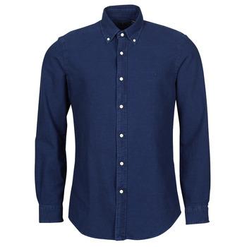 Odjeća Muškarci  Košulje dugih rukava Polo Ralph Lauren TRENNYB Velur / Blue
