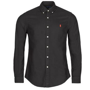 Odjeća Muškarci  Košulje dugih rukava Polo Ralph Lauren CAMISETA Crna