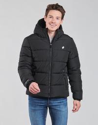 Odjeća Muškarci  Pernate jakne Superdry HOODED SPORTS PUFFER Crna
