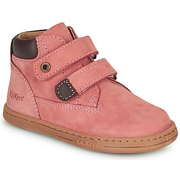 Obuća Djevojčica Polučizme Kickers TACKEASY Ružičasta